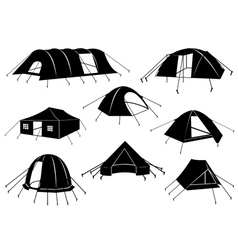 Set Of Tents Isolated vector image vector image