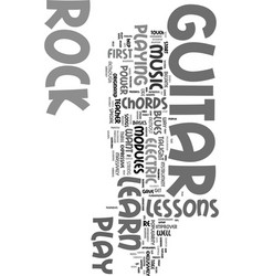 You can learn to play rock guitar text word cloud vector