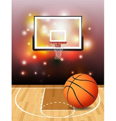 Basketball Court and Hoop vector image vector image