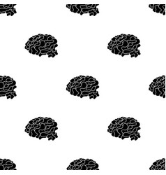brain in the virtual reality icon in black style vector image