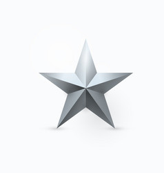 five-pointed metal star vector image