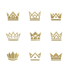 real estate crown1 vector image