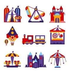 Amusement Park Flat Design vector image vector image