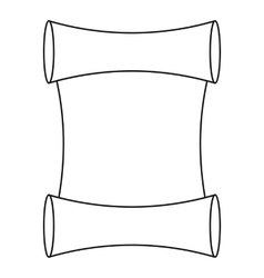 Scroll icon outline style vector