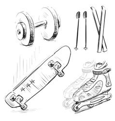 Sport stuff icon set vector image