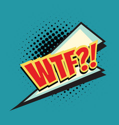 wtf lightning comic word vector image vector image