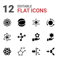 12 particle icons vector
