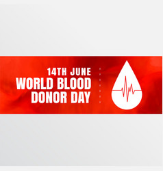 14th june world blood donor day banner design vector