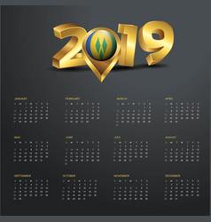 2019 calendar template saint vincent vector