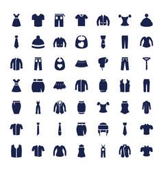 49 apparel icons vector