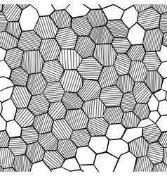 Abstract hand drawn honeycomb vector