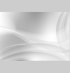 abstract white and gray waves background vector image