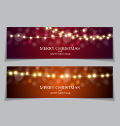 abstract winter snow new year and merry christmas vector image