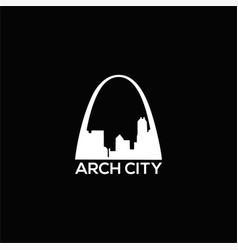 arch city logo vector image