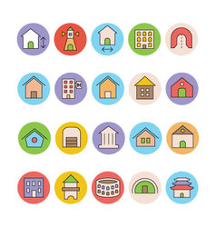 Architecture and Buildings Icons 5 vector