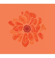 Artistic abstract flower vector
