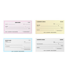Bank check presentation blank cheque checkbook vector