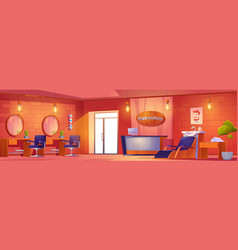 Barbershop interior beauty salon or studio for men vector