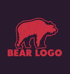 Bear logo element vector