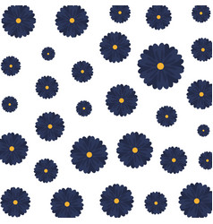 Beautiful flowers pattern background vector