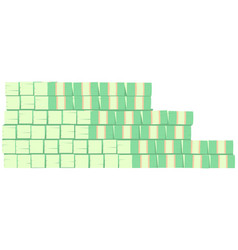 Big stack green dollar bills banknotes vector