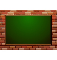 Blackboard on the brick wall vector