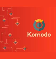 Blockchain komodo symbol digital concept vector