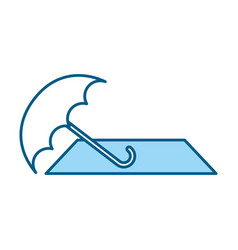 blue beach elements cartoon vector image