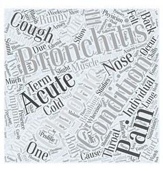 Bronchitis symptom word cloud concept vector