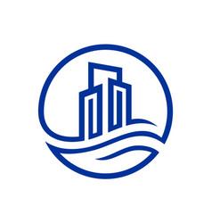 building real estate logo icon vector image