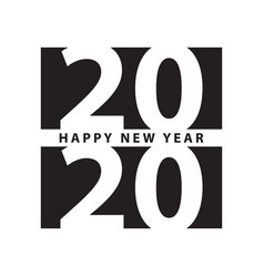 business style happy new year 2020 print modern vector image