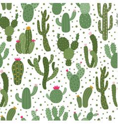 cactus pattern seamless cactus houseplant pattern vector image