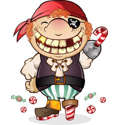 Candy pirate cartoon character vector
