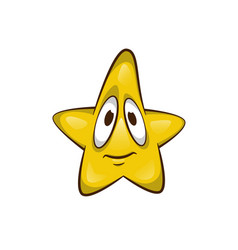 cartoon star character cute vector image