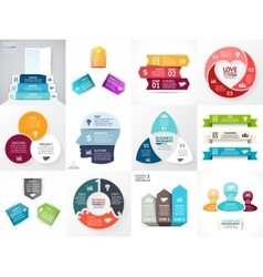 circle arrows infographic set Business vector image