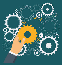 cogwheels as symbol of successful business vector image