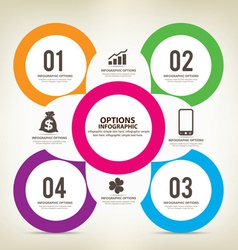 Colorful infographics options template vector