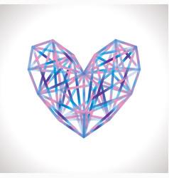 Colorful polygonal heart vector