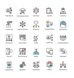 communication colored icons vector image