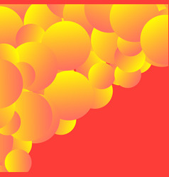 Creative modern style with gradient bubbles vector