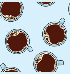 Cup coffee hand drawn cute cartoon seamless vector