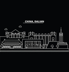 Dalian silhouette skyline china - dalian vector