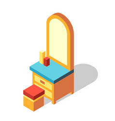 Dressing table isometric vector