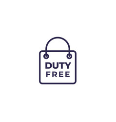 Duty free bag icon vector