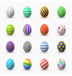 easter eggs 3d color vector image