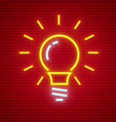 electric bulb with base shine vector image