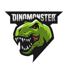 Ferocious dinosaur logo vector