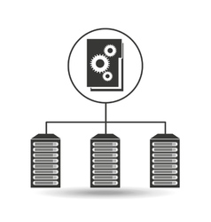 file gear data center connection vector image