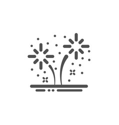 Fireworks icon pyrotechnic salute sign vector