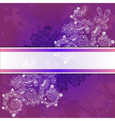 floral decorative background vector image